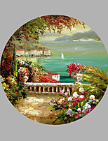 Pintados à mão Paisagem Qualquer Forma,Moderno 1 Painel Tela Pintura a Óleo For Decoração para casa