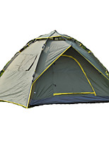 3-4 personnes Tente Double Tente automatique Une pièce Tente de camping 1500-2000 mm Fibre de verre OxfordRésistant à l'humidité Etanche