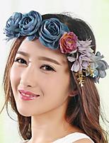 Women's Fabric Hair Clip Handmade Flowers Cute Party Casual Spring Summer Headband Headpiece Head Wreath Hair Accessories Flower