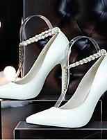 Белый Черный Красный-Для женщин-Повседневный-ПолиуретанУдобная обувь-Обувь на каблуках