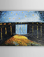 Handgemalte Landschaft Horizontal,Europäischer Stil Ein Panel Leinwand Hang-Ölgemälde For Haus Dekoration