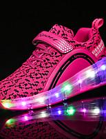 Черный Синий Розовый-Девочки-Для прогулок Повседневный Для занятий спортом-Тюль-На низком каблуке-Light Up обувь Светящийся обуви-