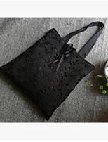 Для женщин Шифон Для отдыха на природе Сумка-шоппер Белый Черный