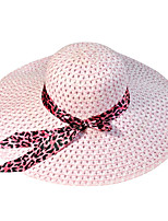 Leopard Summer Straw Hat Cap Beautiful Girl&lady Round Wide Brim Hawaii Folding Soft Sun Hat Casual Foldable Brimmed Beach Hats For Women