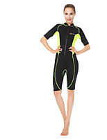 WELLPATH® Women's Wetsuit Skin Ultraviolet Resistant LYCRA® Diving Suit Short Sleeve Diving Suits-Swimming Diving Beach SurfingSummer