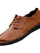 Для мужчин Мокасины и Свитер Удобная обувь Полиуретан Весна Осень Для прогулок На плоской подошве Темно-русый На плоской подошве