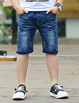 Boys' Summer Blue Short Jeans (3-12 Years Old)