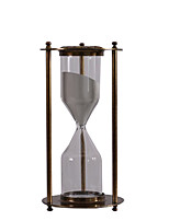 Nordic Retro Metal High-grade Alloy Iron Hourglass Timer Glass Ornament TV Cabinet Hotel Cafe Decoration