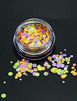 1bottle moda colorido rodada fatia nail art diy beleza glitter rodada paillette fino fatia decoração p30