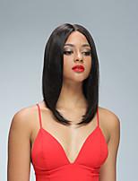 130% de densidade recto reto glueless pranchas bob peruca para as mulheres negras virgem humano virgem cabelo curto peruca wigs com cor