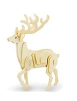 Jigsaw Puzzles 3D Puzzles Building Blocks DIY Toys Deer Wood Model & Building Toy