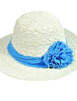 Для женщин Винтаж Очаровательный Для вечеринки Для офиса На каждый день Соломенная шляпа Шляпа от солнца,Весна Лето осень Все сезоны