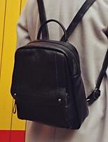 Women Cowhide Casual Backpack All Seasons