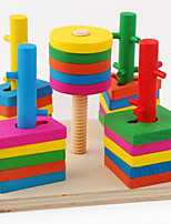 Building Blocks For Gift  Building Blocks Leisure Hobby Circular Square Cylindrical Triangle 2 to 4 Years 5 to 7 Years 8 to 13 Years Toys