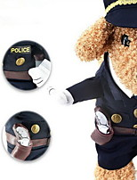 Dog Costume Dog Clothes Winter Police/Military Cosplay