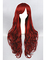 Long Dark Red Beauiful Lolita  32inch wig CS-132A