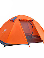 2 persons Tent Double Fold Tent One Room Camping Tent 2000-3000 mm Aluminium OxfordMoistureproof/Moisture Permeability Waterproof
