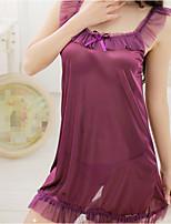 Women's Gartered Lingerie Nightwear,Lace Solid-Thin Spandex Women's