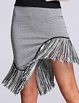 ריקוד לטיני חלקים תחתונים בגדי ריקוד נשים ביצועים ספנדקס חלק 1 טבעי חצאית