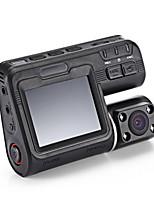 I1000s 1080p dvr coche con cámara delantera y trasera-negro