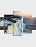 Estampados de Lonas Esticada Paisagem Moderno,5 Painéis Tela Qualquer Forma Impressão artística Decoração de Parede For Decoração para