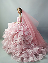Casamento Vestidos Para Boneca Barbie Para Menina de Boneca de Brinquedo