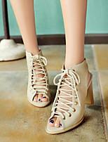 Women's Heels Spring Comfort PU Casual