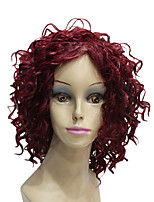 Fashion Short Curly Costume Wigs for Women Heat Resistant Fiber Ladies Wigs