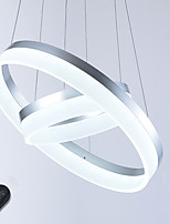 Dimmable LED Ceiling Pendant Light Indoor Acrylic Ring Chandeliers Lighting Fixtures with 54W with Remote Control