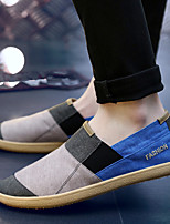 Herren Loafers & Slip-Ons Komfort Leinwand Frühling Sommer Normal Komfort Flacher Absatz Grau Braun Blau 2,5 - 4,5 cm