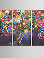 Giclee Print Abstract Modern Classic,Three Panels Canvas Vertical Print Wall Decor For Home Decoration