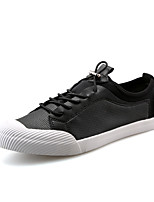 Men's Sneakers Spring Summer Comfort Microfibre Wedding Office & Career Party & Evening Flat Heel Gore Black White