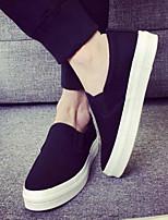 Мужские кроссовки весна комфорт ткань случайный синий черный белый