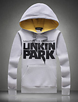 Men's Casual/Daily Hoodie Solid Round Neck Micro-elastic Rayon Long Sleeve