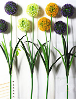 1PC 2 heads flower  Branch Dried Flower Daisies Violet Tabletop Flower Artificial Flowers