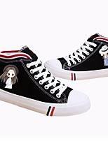 Damen-Sneaker-Lässig-LeinwandKomfort-Weiß Schwarz
