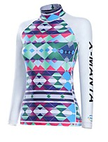 Women's Wetsuit Top Breathable Quick Dry Neoprene Diving Suit Long Sleeve Tops-Diving Spring Summer Printing