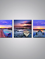 Stretched Canvas Prints Sunset Bridge Picture Print on Canvas Contemporary Landscape Wall Art for  Decoration