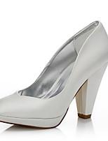 Со стразами-Для женщин-Свадьба Для прогулок Для офиса Для праздника Для вечеринки / ужина-Шёлк-На толстом каблуке-Удобная обувь Dyeable
