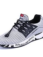 Men's Sneakers Spring Summer Comfort Tulle Outdoor Athletic Casual Flat Heel Gore Gray Black Running