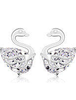 Luxury Stud Earrings Swan Fashion Jewelry For Wedding Party Engagement Gift 1 pair