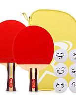 3 Звезд Ping Pang/Настольный теннис Ракетки Ping Pang Дерево Длинная рукоятка Короткая рукоятка Прыщи