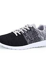 Herren-Sneaker-Outddor-Tüll-Flacher Absatz-Komfort-Weiß Grau Rot