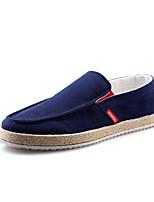Men's Loafers & Slip-Ons Spring Fall Comfort PU Casual Light Blue Gray Dark Blue Black