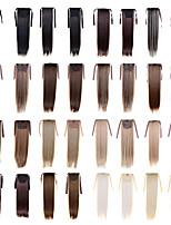 Высококачественное синтетическое волокно высокой температуры 22-дюймовая длинная прямая конница хвост парикмахерская - 16 цветов