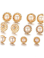 6Pcs/set Stud Earrings Circular Unique Design Alloy Jewelry For Party Daily Casual 1 Set