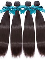 Человека ткет Волосы Малазийские волосы Прямые 12 месяцев 4 предмета волосы ткет