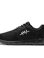 Unisex Sneakers Spring Fall Couple Shoes PU Casual Black/White Fuchsia Black White
