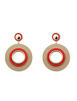 Tropfen-Ohrringe Schmuck Kreisförmiges Modisch individualisiert Euramerican Simple Style USA Acryl Aleación Runde Form Schmuck Für
