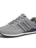 Men's Sneakers Spring Fall Comfort PU Casual Lace-up Gray Dark Blue Walking